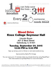 Red Cross Blood Drive: Alpha Phi Omega