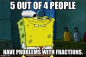Math- Fractions + & -