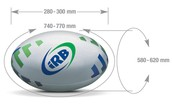 Rugby ball dimensions