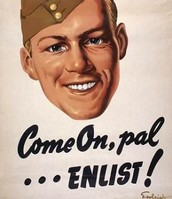 World War 2 enlistment poster