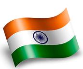 India Flag & British Flag