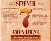 Amendment #7 Right to jury trial