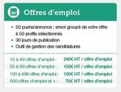 Les offres d'emploi
