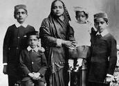 Kasturba and Her and Gandhi's Children