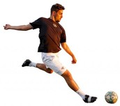 Male Playing Soccer
