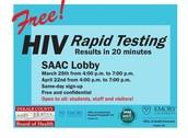 HIV Testing tomorrow in the SAAC
