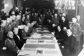 """March 3, 1918- """"Treaty of Brest-Litovsk"""", Lenin compromised with Germany"""