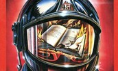 Firemen burn books