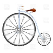 Why was the front wheel bigger than the back one?