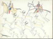 Kiowa unting animals