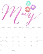 May Dates to Remember