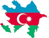 Azerbaijan (colors of the flag