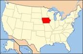 Location of Iowa on a Map