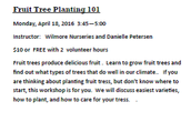 Fruit Tree Planting 101
