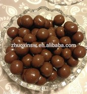 Most chocolate coatings contain Acacia gum