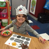 100th day trail mix sorting...
