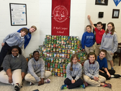 Can you believe it!  3,600 cans were collected for the Salvation Army!  Great job Dr. Holeman and crew!