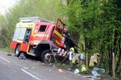 20 Year old male killed after crash with Fire Appliance