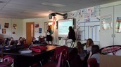 Miss Depies and Mrs. Hess co-teaching Language Arts