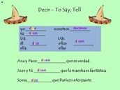 Decir - To Say, Tell