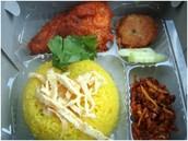 Nasi Kuning Kotak