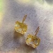 Cushion Drop Earrings--Citron
