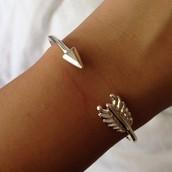 Gilded Arrow Bracelet - Silver $22  SOLD (McKenna Opland)