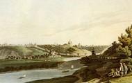 Вид на Смоленск в 1814 году с правого берега Днепра