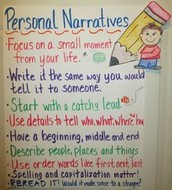 An Anchor Chart for Personal Narratives