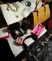 Ladies bags, necklaces, timepieces etc