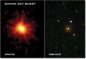 Image Shown in Gamma-rays vs Visible and UV