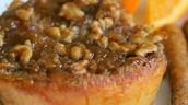 Pan francés con naranjas y pacanas