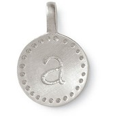 """retired style """"r"""" charm - silver"""
