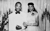 Coretta and Martin on their wedding day.