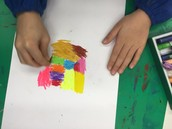 Art- drawing with oil pastels
