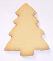 Christmas Tree Plain Sugar Cookie