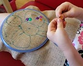 Hands on sewing