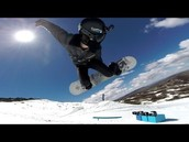 Shaun White attempting a new trick