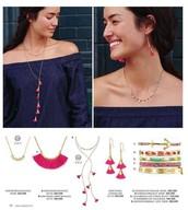 Eden Tassel Necklace and Chandeliers