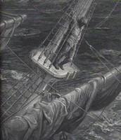 An illustration of The Ancient Mariner at sea