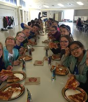 Fourth Graders enjoying a Rotary Sponsored Pizza Lunch!