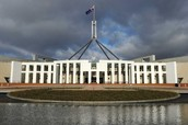 Parliament house from the front