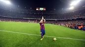 Messi en el Camp Nou