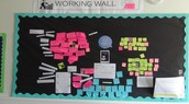 Working Walls that grow as the class does