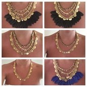**SOLD** Plume Necklace 7 in 1 (no box) $50
