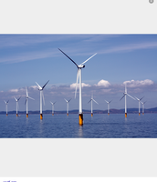 You can use wind turbines on water