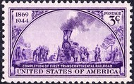 Stamp of the Continental Railroad