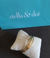 Rhea Bangles Gold  Set of 3 - $20
