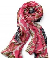 Union Square Scarf: geo ikat