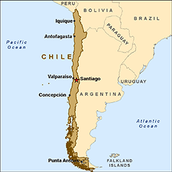 Map of Chile.